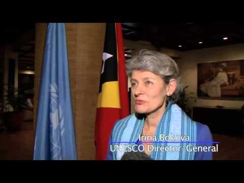 Irina Bokova UNESCO Director-General sporting some tais