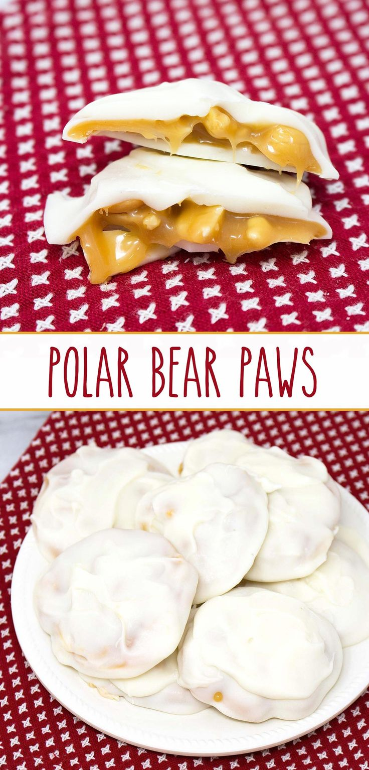 Polar Bear Paws – an enchanting love affair with roasted salted peanuts, ooey-gooey caramel, and rich white chocolate; homemade sweet  and salty chocolates never tasted SO GOOD!!