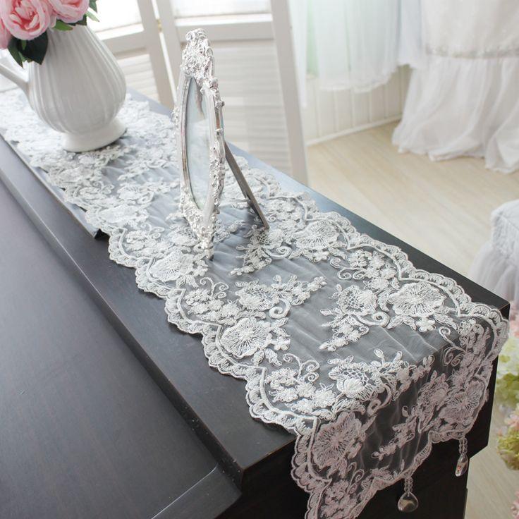 livraison gratuite en dentelle pendentif chemin de table avec blanc bref d coupe bon chemin de. Black Bedroom Furniture Sets. Home Design Ideas