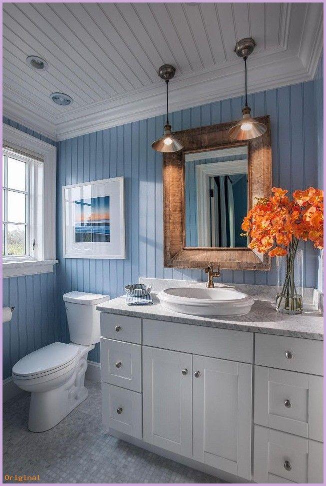 home accents – Badezimmer Ideen. Küstenbad mit blauem und weißem Motiv. Blaue Perle Bord …  #bedroom #häuslicheAkzente #homeaccents #homeaccentst…