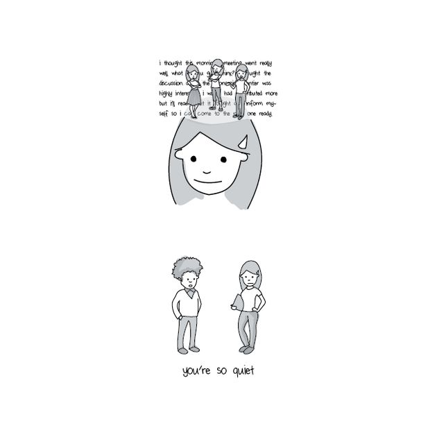 6 Illustrations That Show What It's Like In An Introvert's Head