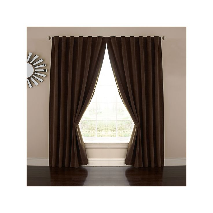 eclipse Absolute Zero Velvet Thermaback Blackout Home Theater Curtain, Brown, Durable