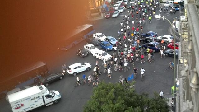 Una manifestacion en Madrid se transforma en un verdadero caos