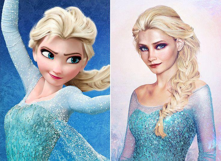 Inspiration Real-life Elsa hair makeup (Frozen) || Real-Life Disney Princess Art