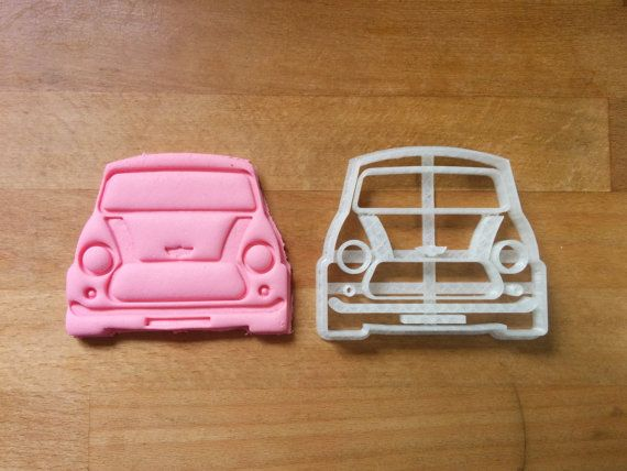 Mini Cooper Cookie Cutter - 3D printed https://www.etsy.com/uk/listing/470437967/mini-cooper-cookie-cutter-3d-printed?ref=market
