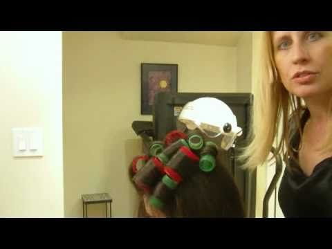 How To Curl Your Hair With Velcro Rollers: Big Wavy Curls (Part 1 of 2)