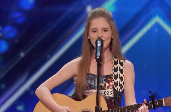 12-year-old Kadie Lynn impresses judges on America's Got Talent with a cover of Merle Haggard's Twinkle, Twinkle Lucky Star.