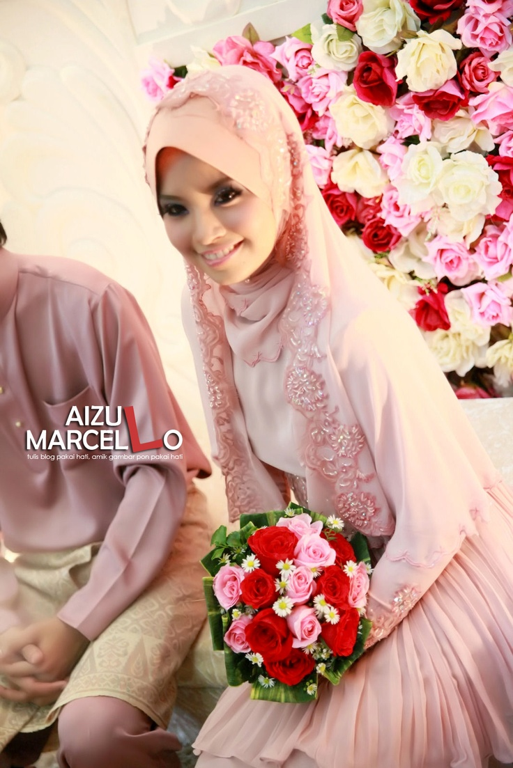 Dress and Veil for Nikah @ Engagement (first come first serve basis)   Irine Nadia Marcello