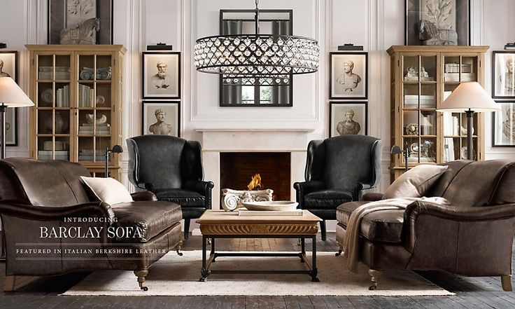 Rooms Restoration Hardware Natural History Museum Style With Deep Couches Living Room