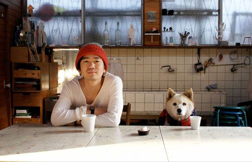 I like this picture, don't know why.: White Tile, Bro, Man Friends, Photography Dogs, Friends Pictures, Man Best Friends, Dogs Owners, Cute Pictures, Japan Tile