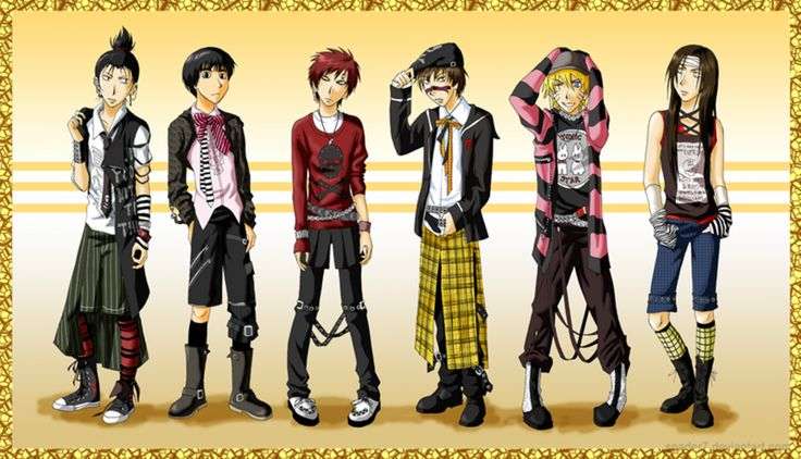 Emo Naruto Boys by MiraRosexRemusLupin.deviantart.com on @deviantART