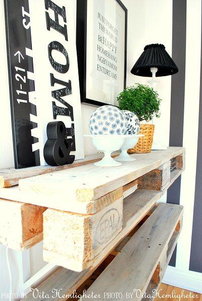DIY | Pallet | planking | wall | Vita Hemligheter