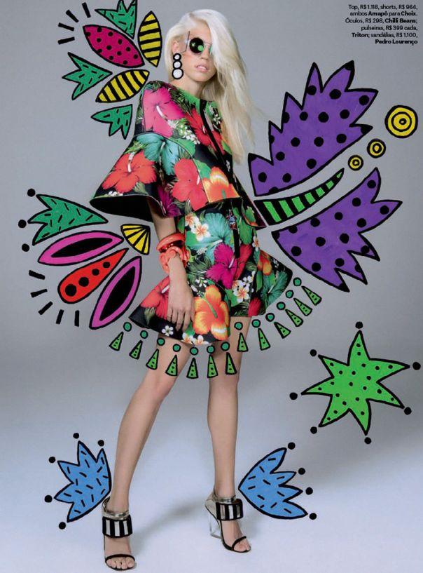 Vejo Flores em Você   Vogue Brazil September 2014   Devon Windsor by Jacques Dequeker  [Editorial]