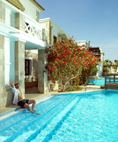 VIP Rooms on ground level have a direct access to the pool. Just a step away to a refreshing dip in cool waters of the pool