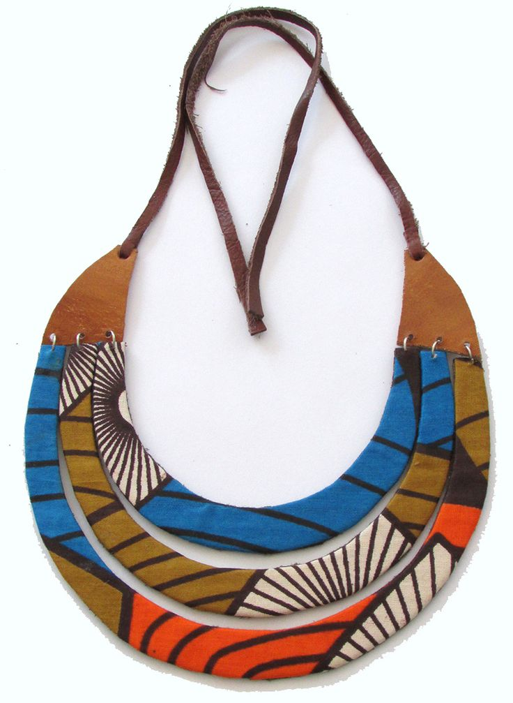 Fundi Adina unique handcrafted African ankara fabric necklace - Modern Tradition…