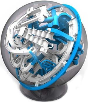 Presenting Epic - the newest in the line of Perplexus mazes. With gnarly new obstacles that require a whole new lwvel of concentration and finesse, Epic is here to humble you! Its impressive 125 barriers are certain to entertain, challenge and frustrate you to Epic proportions!  $31.95
