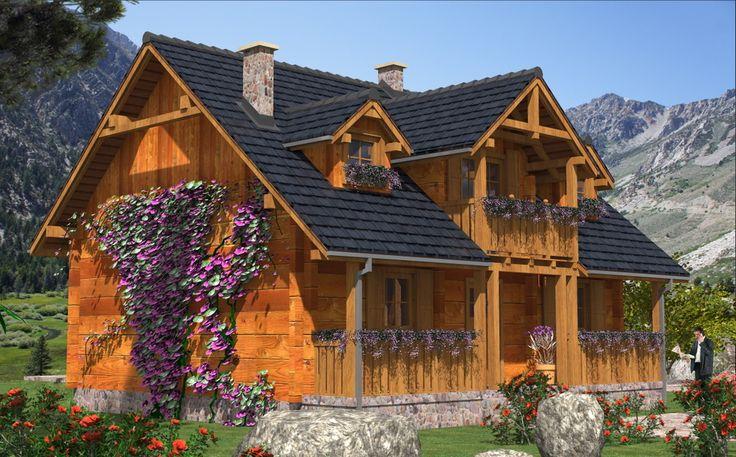 DOM.PL™ - Projekt domu MD L-94 bale CE - DOM MD1-10 - gotowy projekt domu