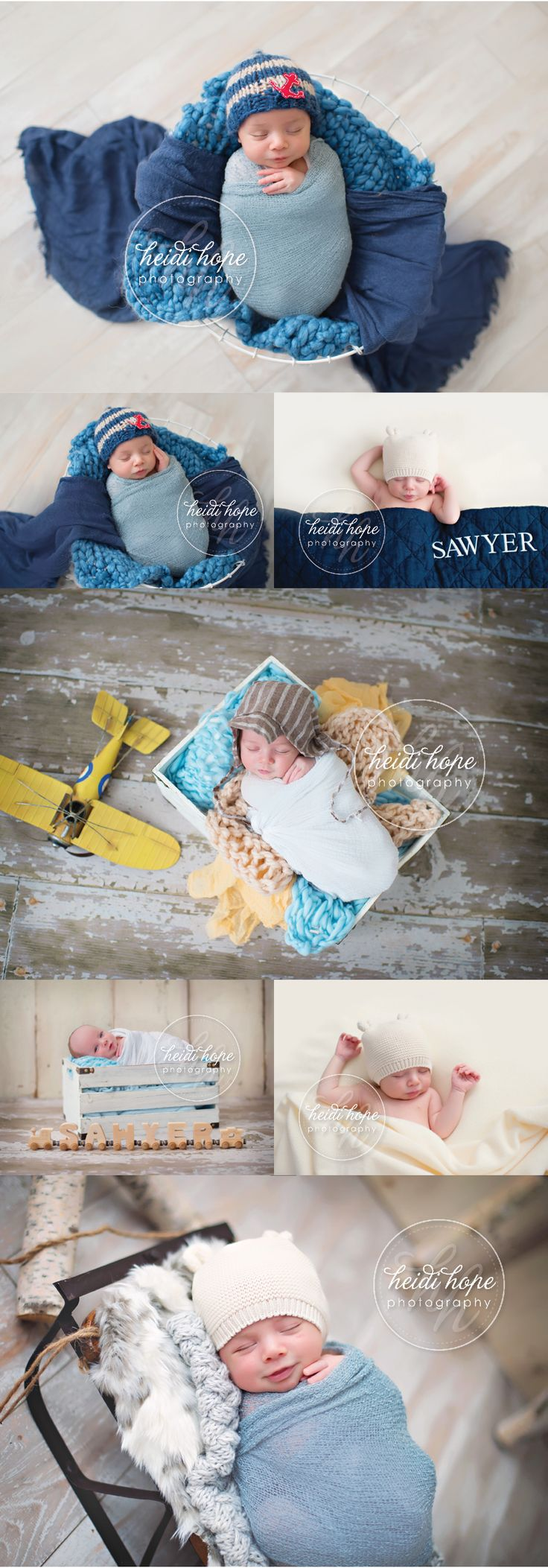 One Month Old Baby S, a classic little star newborn session. (Heidi Hope…