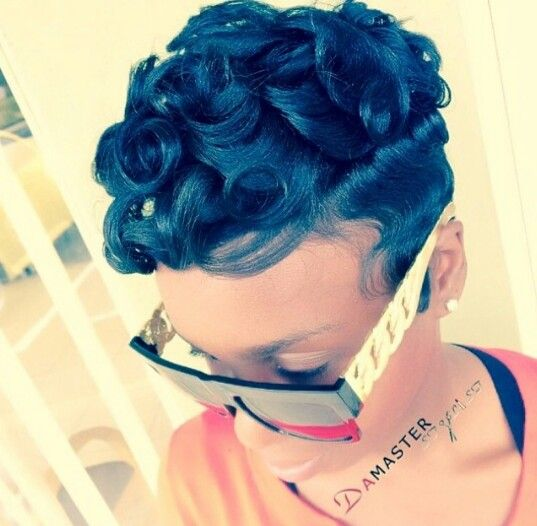Pin curl hairstyles for black hair the best black hair 2017 best 25 pin curls short hair ideas on finger waves urmus Images