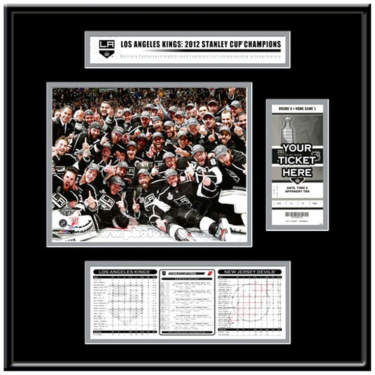 Los Angeles Kings 2012 NHL Stanley Cup Final Champions Ticket Frame Jr. - $95.99