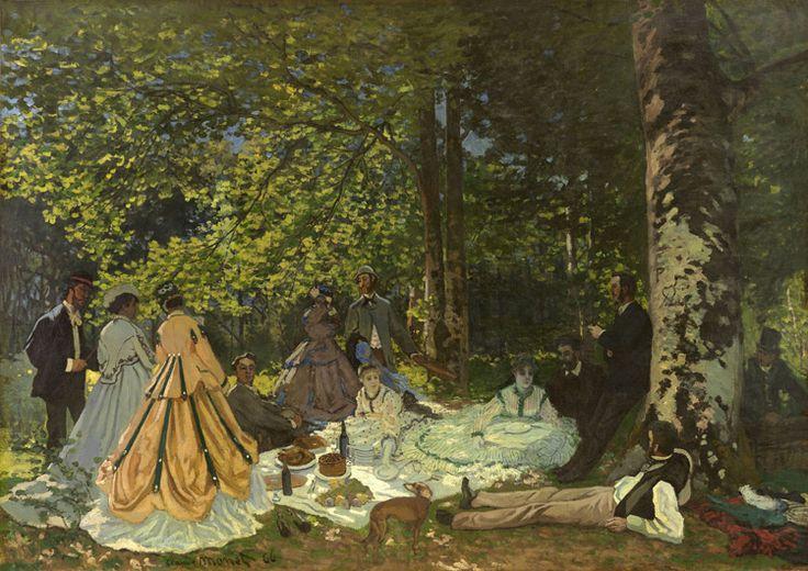Claude Monet - 146 Le déjeuner sur l'herbe - Завтрак на траве - 1866 - 130x181 - Acheté chez Durand-Ruel en Novembre 1904, 30 000f - cat. 1913, 133 - inv. Pouchkine J 3307