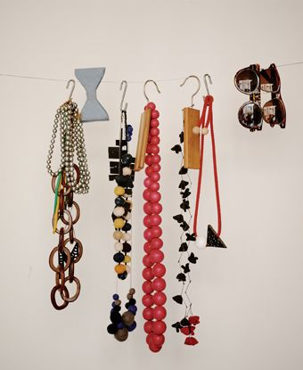 Hang jewelry from hooks