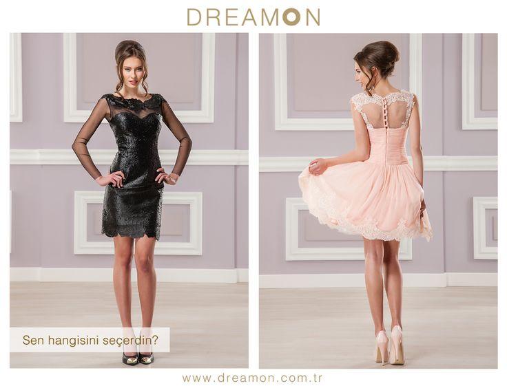 """DreamON'un birbirinden özel BitterSweet abiye modellerinden """"Hangisi senin tarzın?"""" Remy Martin ya da Kissberry  www.dreamon.com.tr  #geceelbisesi #abiyeelbise #gelinlik #gelinlikmodelleri #dreamongelinlik #dreamon #gelinlikler #bittersweet #kolleksiyon #remymartin #siyah #kissberry #pudra"""