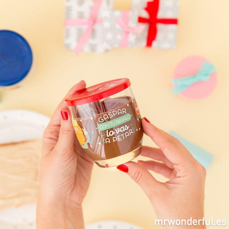 ¡Gaspar, con tu regalo lo vas a petar! #mrwonderfulshop #nocilla #chocolat #christmas