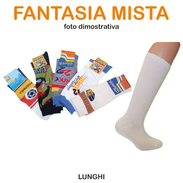 5 paia calzini lunghi da bambino FANTASIA MISTA