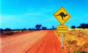 Travel through the outback on a search for kangaroos.