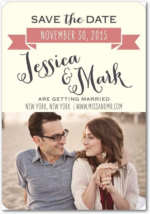 17 Best images about Engagements Save the Dates – Save the Dates Wedding Paper Divas