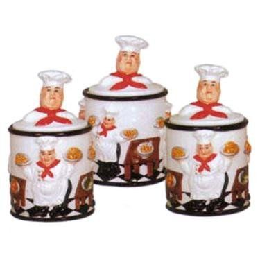 153 best images about fat chef on pinterest cookie jars for Italian kitchen set