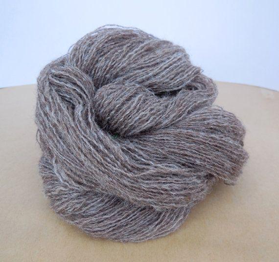 Handspun yarn 100 llama laceweight 300yards 1.4oz by SpinHeartSpin, $55.00