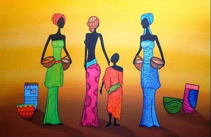 Cuadros Étnicos Africanos Imágenes | Bodegones y Paisajes Cuadros ...