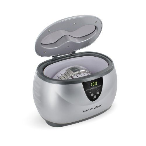 Magnasonic Professional Ultrasonic Polishing Jewelry Cleaner with Digital Timer for Cleaning Eyeglasses, Watches, Rings, Necklaces, Coins, Razors, Dentures, Combs, Tools, Parts, Instruments (MGUC500) Magnasonic http://smile.amazon.com/dp/B007Q2M17K/ref=cm_sw_r_pi_dp_AP7wwb0F8Q7E8