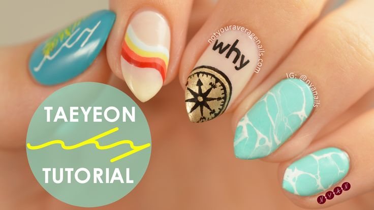 #Taeyeon #Why Inspired Nail Art Tutorial