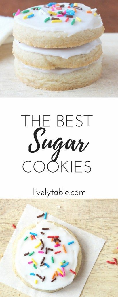 The perfect recipe for tender yet crispy cutout sugar cookies. They look beautiful decorated for any holiday! Via livelytable.com