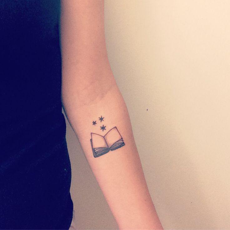 Recent Tattoo I had done. My true passion-reading. #books #booklover #harrypotter #harrypottertattoo #tattoo #booktattoo #chapterstars #smalltattoo #wristtattoo #armtattoo #tattoosforgirls