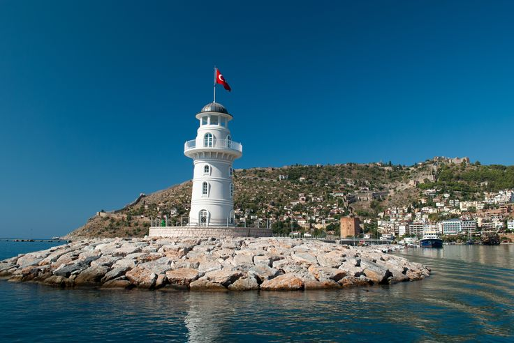 Beacon in the mediterranean sea of Turkey