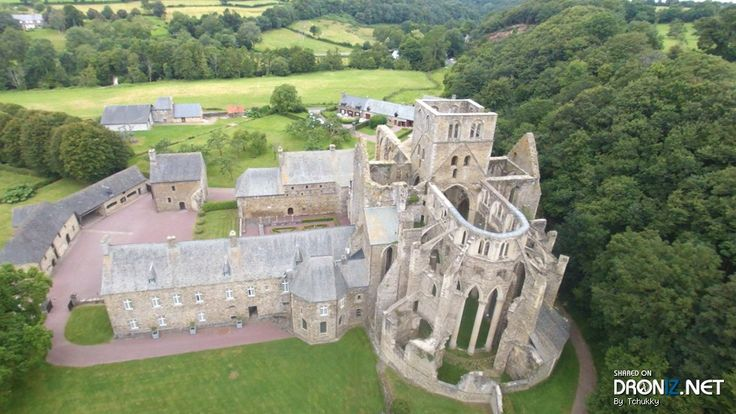 Aerial drone Photo from France by Tchukky : 19 Route de l'Abbaye, 50450 Hambye, France