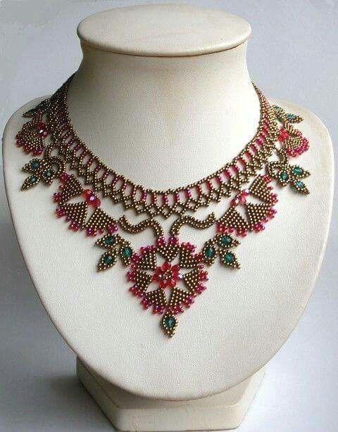 Necklace by Colette l'Hopital-Navarre, France, at  http://www.labijoutisse.com/