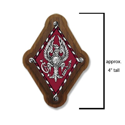 Pi Beta Phi Sorority Large Wooden Crest