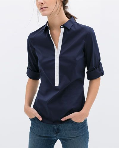 Image 1 of COMBINED SHIRT from Zara