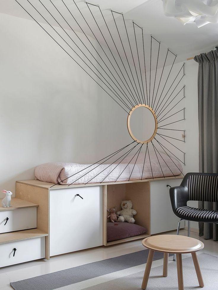 Hochbett, Schlafniveau Sperrholzmöbel Kidsroom Willem van Bolderen #cute #uniq