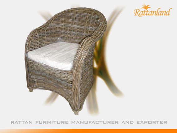 Vintage Wicker Rattan Footstool Retro Shabby Chic Wooden Grey Children/'s Seat
