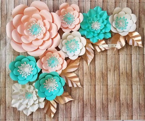 Flores de papel Rosas de papel Flores para fiesta