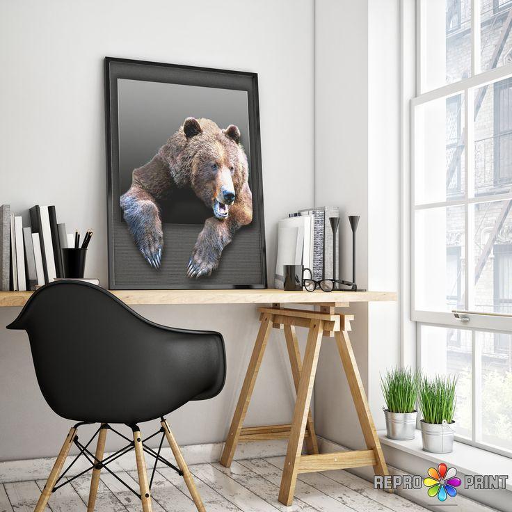 Color Bear Print, Nursery Wall Art, Bear Print, Animal Photo, Woodlands, Printable Poster, Kids Room Decor, Instant Digital Download