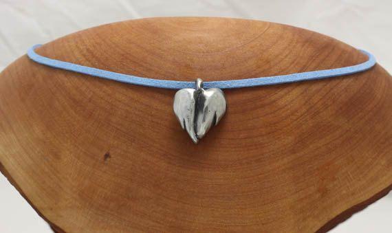 Heart shaped Angel wings pendant by EarthlyCreature on Etsy