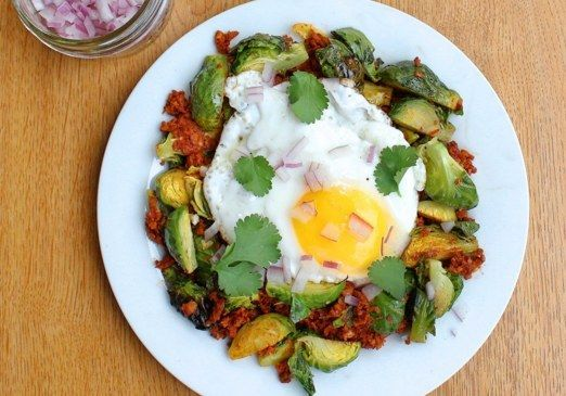 Spanish Style Brussels Sprouts With Egg | 17 Paleo Breakfasts That Are Actually Delicious