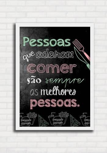Poster Lousa para Cozinha